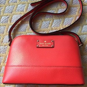 Kate Spade Red Leather Crossbody